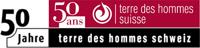 Logo 50e Terre des Hommes Suisse/Schweiz