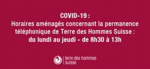 Nouveaux horaires de bureau, suite à la propagation du COVID-19