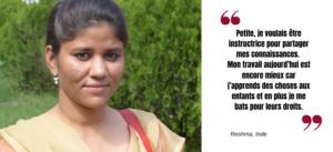 Pour la Journée internationale des droits des femmes découvrez Reshma, actrice de changement en Inde