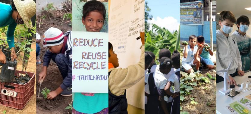 Dans nos pays d'action, les enfants s'engagent pour l'environnement